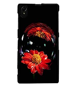 ColourCraft Amazing Flower Image Design Back Case Cover for SONY XPERIA Z1
