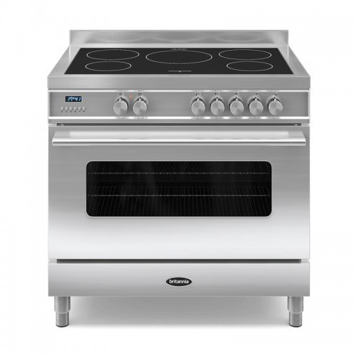 Britannia RC-9SI-DE-S Delphi 90cm Single Induction Range Cooker Stainless Steel