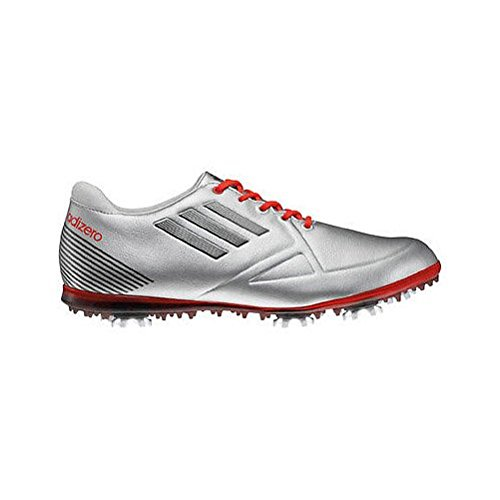 adidas Women's Adizero Tour Golf Shoe,Metallic Silver/Running White/Coal,9 M US