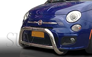Amazon.com: 2012-2015 Fiat 500 Bull Bar Grille Guard Protector in T304