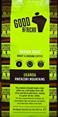 Good African Rwenzori Mountains Coffee, Ground, Medium Roast 8.82 OZ (pack of 6)