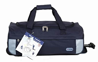 5 Cities Cabin Approved Super Lightweight Wheeled Luggage Bag (Navy) by 5 Cities