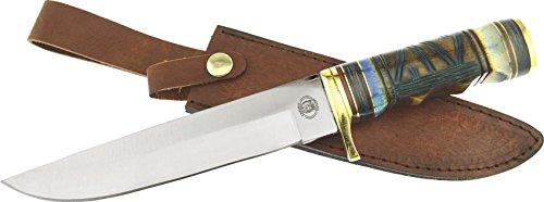 Chipaway Cutlery Hunting Knife GW-3700 BLB Bone Handle Leather Sheath