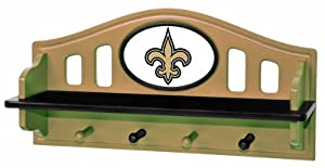Fan Creations New Orleans Saints Shelf with Pegs
