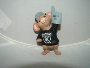 Hallmark keepsake Oakland Raiders #1 fan Team NFL Christmas Ornament