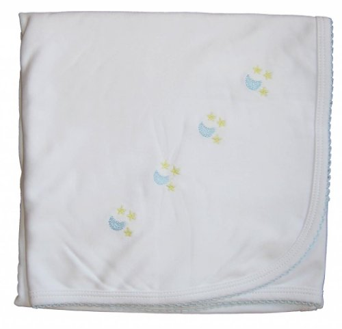 Kissy Kissy Baby Boys Homeward Bound Moon And Stars Embroidered Blanket-One Size