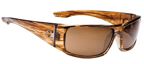 4c58c6a31d SPY OPTIC Mens COOPER XL Sunglasses XL in Brown Stripe Tortoise With Bronze  POLARIZED Lenses