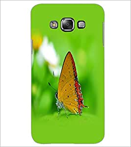 PrintDhaba Butterfly D-1259 Back Case Cover for SAMSUNG GALAXY E7 (Multi-Coloured)