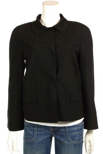 DKNYDKNY Women's Black Triple Snap Closure Business Blazer Suit Jacket, 6