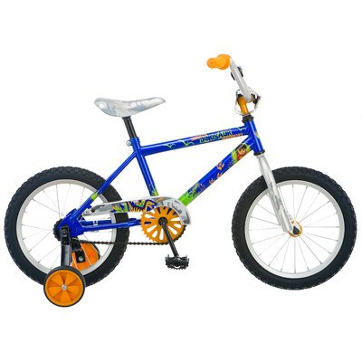 Diego Boy's Dino Bike (Blue, 16-Inch)