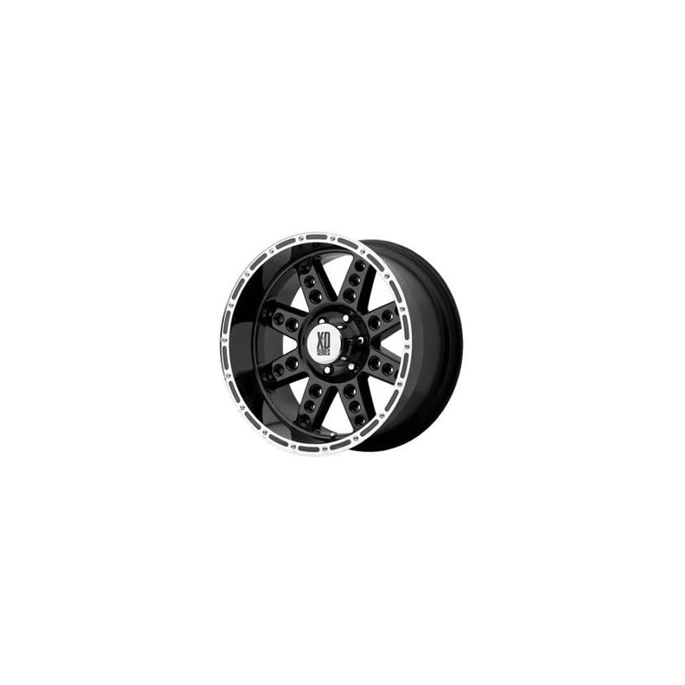 XD XD766 18x9 Black Wheel / Rim 8x6.5 with a 0mm Offset and a 130.81 Hub Bore. Partnumber XD76689080300