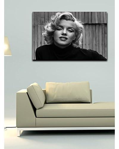 Homemania  Panel Decorativo Canvas Gris/Negro