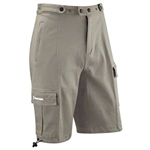 Tenn Mens Off Road Downhill Cargo Style Loose Fit Cycle Shorts Khaki by Tenn-Outdoors