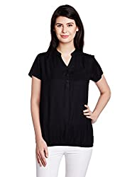 People Women's Body Blouse Top (P20402095878100_Black_X-Small)