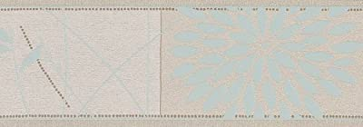 As Cration 6353-27 Borders Flowers Beige And Turquoise by A.S. Creation