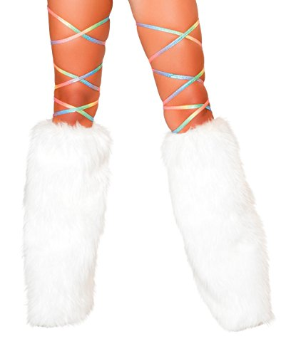 Sexy Printed RAINBOW 100″ Thigh High Leg Wraps Women's Exotic Dance Club Rave Wear