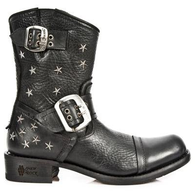 New Rock Biker GY Boots Women - Black - Euro 38 / UK 5