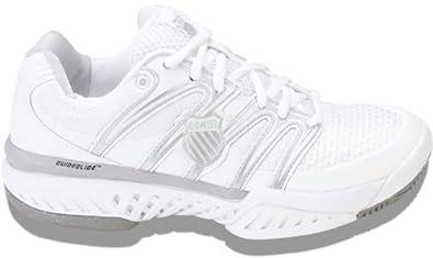 K-Swiss Women's Bigshot Tennis Shoe (White/Silver)