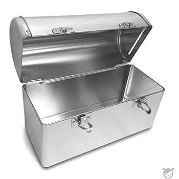 Plain Metal Dome Lunch Box - Silver