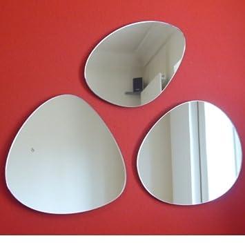 a groupe de 3 galets galets miroir 35cm chaque cuisine maison m186. Black Bedroom Furniture Sets. Home Design Ideas