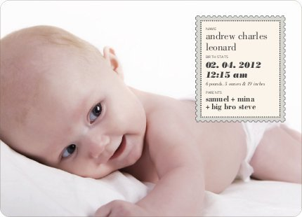 Announcement Cards Baby front-955953