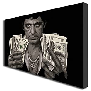 Scarface Tony Montana Painting art box canvas print picture 406 by Box Prints