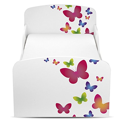 PriceRightHome Papillons Conception MDF Lit Enfant + Matelas Deluxe