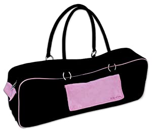 Wai Lana Yoga Urban Bag, Black with Pink,$41.28