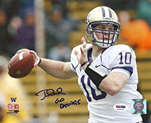 Jake Locker Washington Huskies NCAA Hand Signed 16x20 Photograph White Jersey by All+About+Autographs