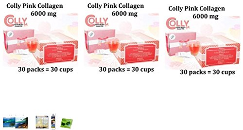 3 Packs Of Colly Collagen 6000Mg. Strawberry Flavor (6 Box = 180...