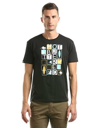 Hot Buttered Camiseta Tetris Negro