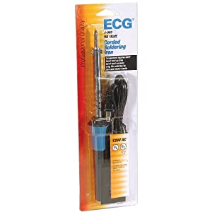 ECG J-060 Electric Corded Soldering Iron with Conical Needle Tip, 460 Degree C Tip Temperature, 60W (Color: One Color, Tamaño: One Size)