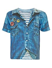 Limited Denim Shirt Print T-Shirt