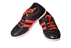 TRV T-9 BLACK & RED SPORTS SHOES-8 UK