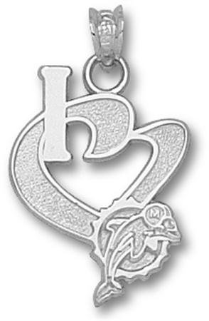 Miami Dolphins NFL Sterling Silver Charm 3/4