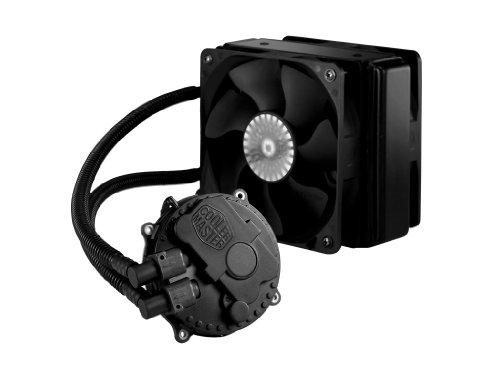 Cooler Master Seidon 120XL Liquid CPU Water Cooling System with Copper Heatsink and 120mm Radiator - 2 Fans