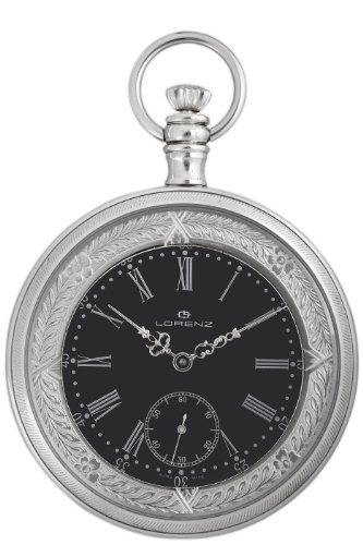 Lorenz Men8217;s 024758AA Mechanical Silver Pocket Watch