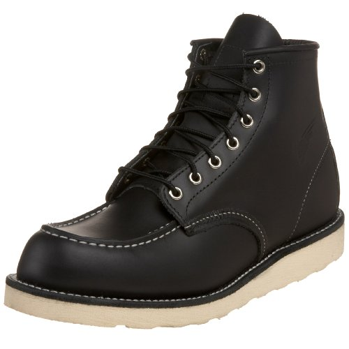 "Red Wing Shoes Men's 6"" Classic Moc Boot,Black ,9.5 D US"