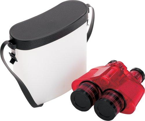 Safari Ltd Red Translucent Binocular With Vinyl Case