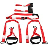 Powerfly Bodyweight Suspension Trainer Straps System - Red