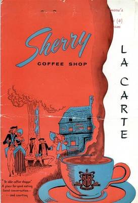 Sherry Biltmore Hotel Coffee Shop Menus Boston Massachusetts 1956