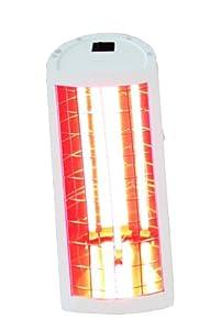Dr. Kern IRelax 500 - Lámpara calorífica por infrarrojos para pared y techo (500 W), color blanco