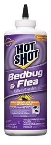 Hot Shot Bedbug and Flea Killer Powder, 8-Ounce