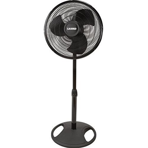 New Lasko 2521 3 quiet speeds Oscillating Pedestal for Home & Office ShipFree Portable Stand Fan Easy no-tools assembly ,16-Inch (Rotating Fan Heater compare prices)