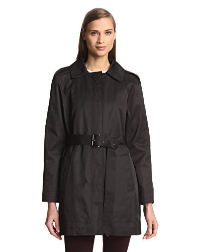 London Fog Women's Single-Breasted Belted Trench