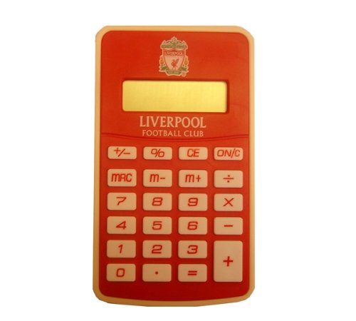 OFFICIAL LIVERPOOL FC CRESTED POCKET CALCULATOR