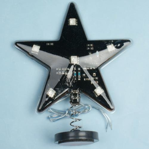 Car Star Sign With Muti-Color Led Flash Light Lamp 12V
