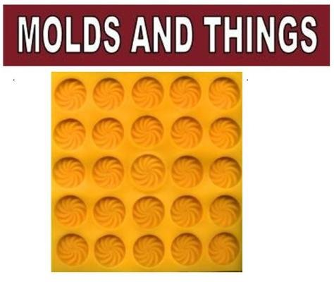 SWIRL FLAT YELLOW RUBBER MOLD (Rubber Cream Cheese Mint Mold compare prices)