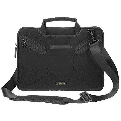 Microsoft Surface Book Messenger Bag, Evecase Ultra Portable Neoprene Messenger Briefcase Shoulder Tote Bag with Handle and Accessory Pocket - Black (Hp Split X2 11 Inch compare prices)