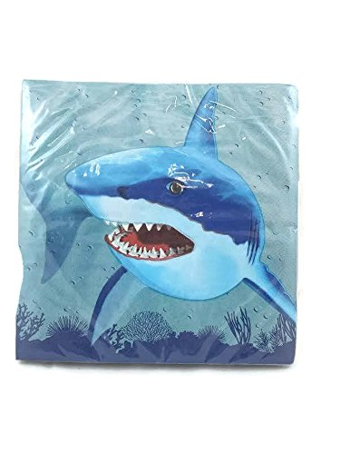 Cool Shark Lunch Napkins 20 Count
